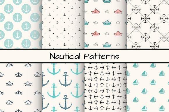Set of 8 nautical patterns, part 2 by Svetolk on Creative Market