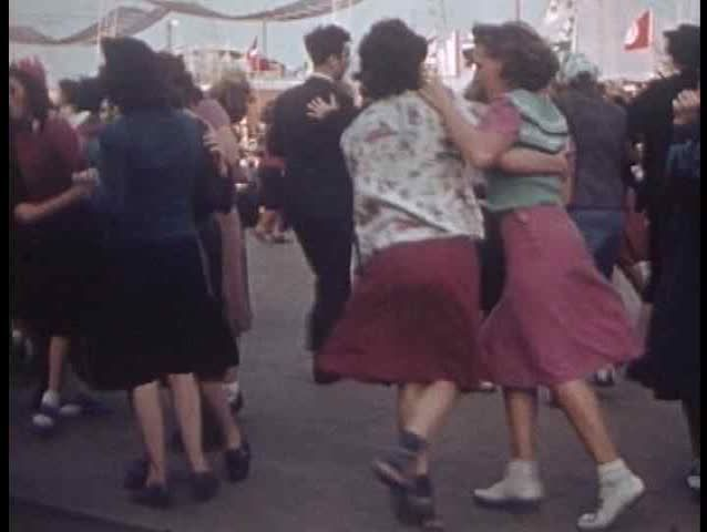 1930s - Swing Dancing From The 1939 NYC World Fair. Stock Footage Video 4985921…