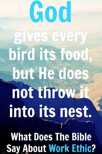 God gives every bird its food, but He does not throw it into its nest. ~J.G. Holland Check Out What Does The Bible Say About Work Ethic? 6 Things To Know