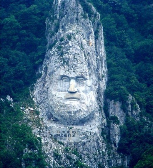 Top Places To Visit Romania: Romania Rock Sculpture Of Decebalus, The Last King Of