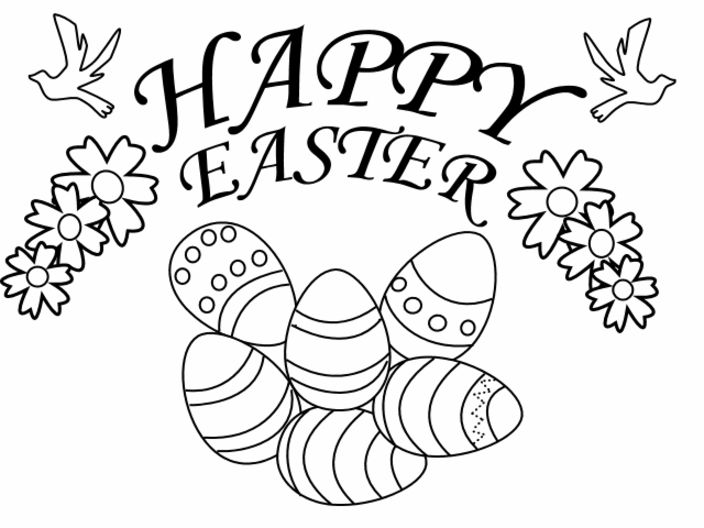 Easter Printable Colouring Pages For Toddlers