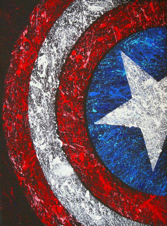 Les 25 meilleures id es de la cat gorie logo capitan - Bouclier capitaine america ...