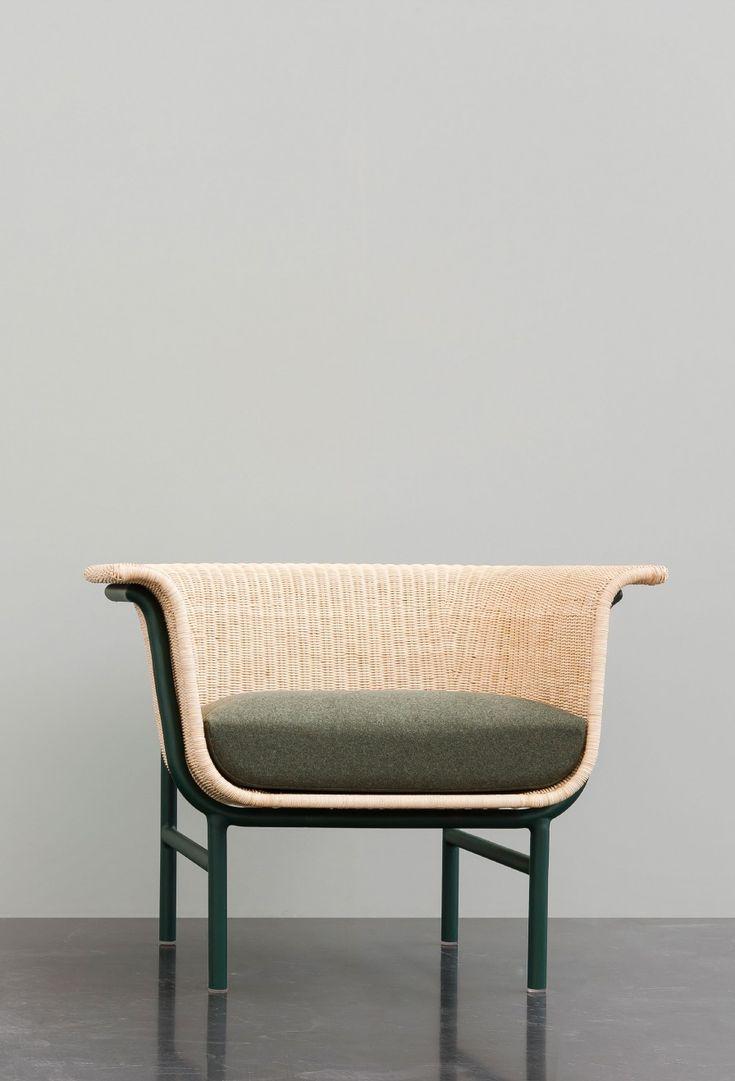 Wicker indoor armchair - Alain Gilles