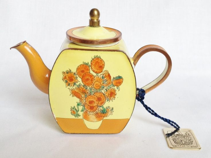 trade plus aid vincent sunflower teapot c280 charlotte di vita sunflower miniature. Black Bedroom Furniture Sets. Home Design Ideas