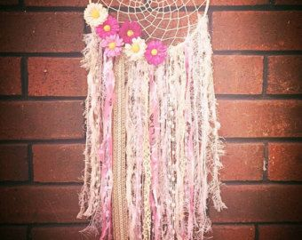 Dreamcatcher / Flower Dreamcatcher / Wall hanging by myflowertable