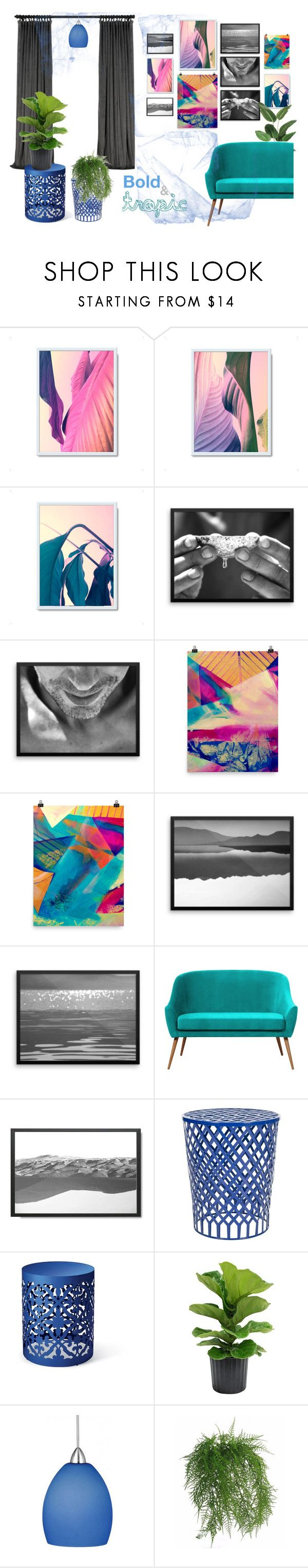 Home decor collection, inspired by tropical atmosphere, nature and summer. Bold color combination. #gallerywall #homedecor #walldecor #livingroomdecor #indoorplants #wallart