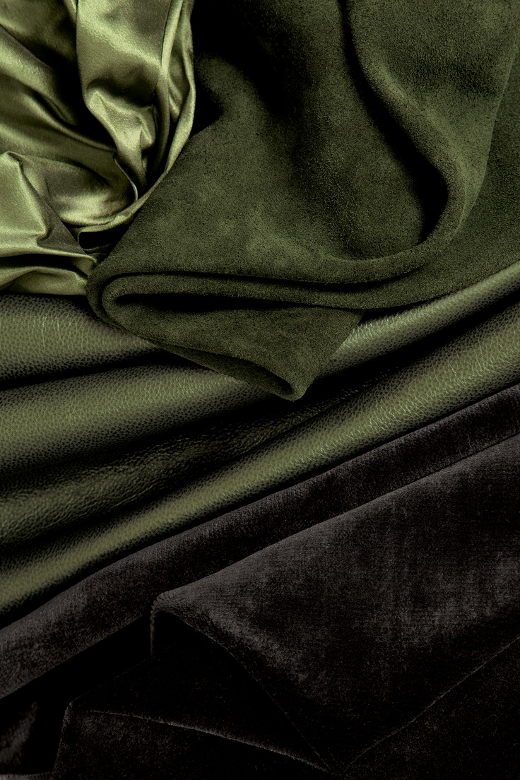 Holly Hunt Green leather & fabrics