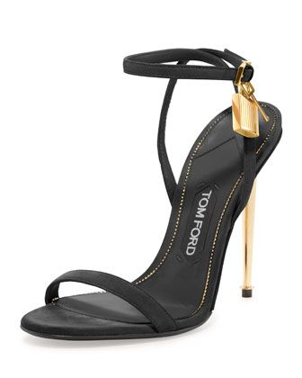 Leather+Padlock+Ankle-Wrap+Sandal,+Black+by+TOM+FORD+at+Bergdorf+Goodman.