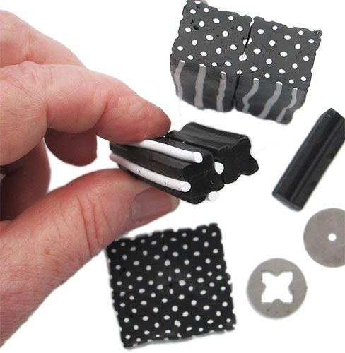 Polka dots by Cynthia Tinapple - Fimo, Cernit et accessoires : http://www.creactivites.com/236-pate-polymere #Polymer #Clay #Canescane