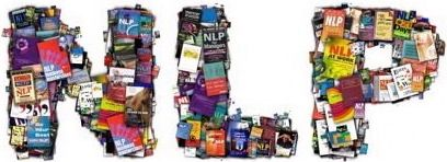 'NLP' image made of NLP book covers. I forget what piece of software I used to create this - it was a long time ago! Free to use.