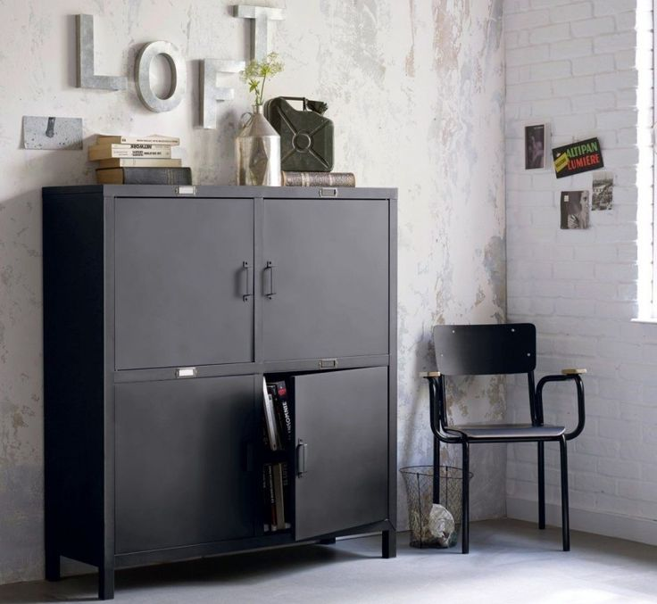 1000 ideas about buffet style industriel on pinterest. Black Bedroom Furniture Sets. Home Design Ideas