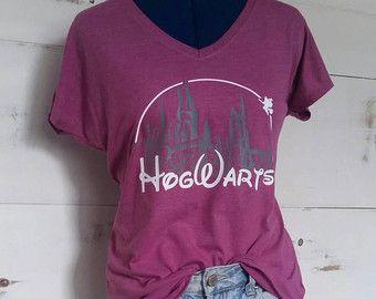 Hogwarts Castle School Harry Potter T-shirt by rainbowtshirt