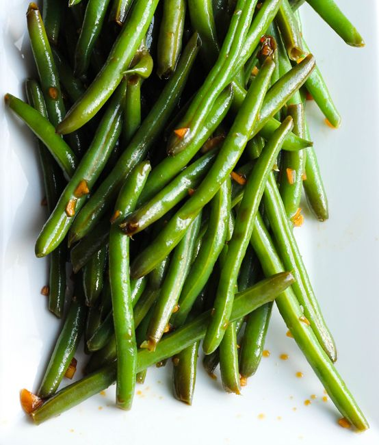 Garlic and sesame soy marinated green beans are a quick and easy summer side