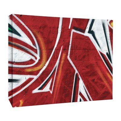 J.P. London Design, Inc. LCNV2183 Graffiti Red Spray Paint Funk Gallery-Wrapped Canvas Art