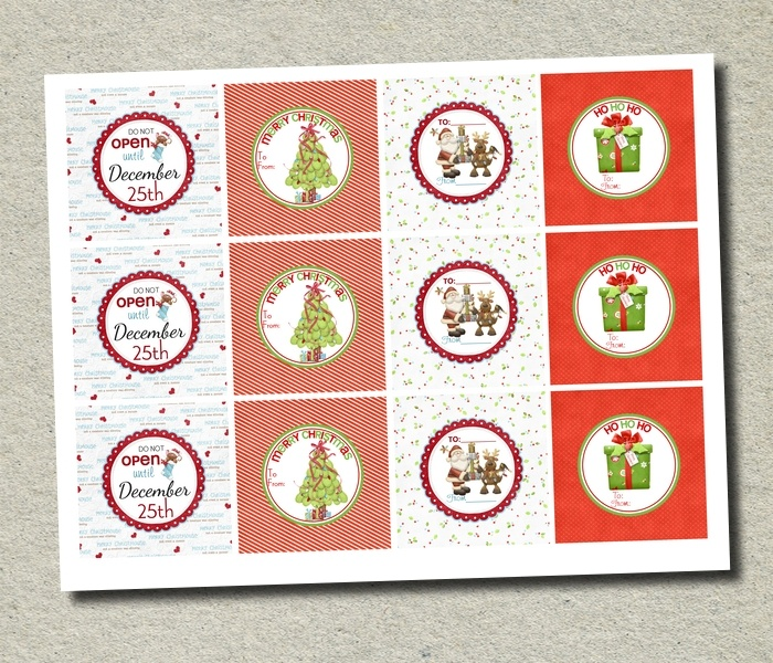 1000+ images about Christmas labels on Pinterest | Printable tags ...
