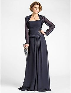 Women's Wrap Shrugs Long Sleeve Chiffon Dark Navy Wedding Party/Evening Wide collar 39cm Draped Open Front – USD $ 30.00