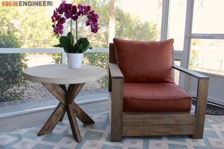 Ana White | Build a Concrete X Side Table Featuring Rogue Engineer | Free and Easy DIY Project and Furniture Plans