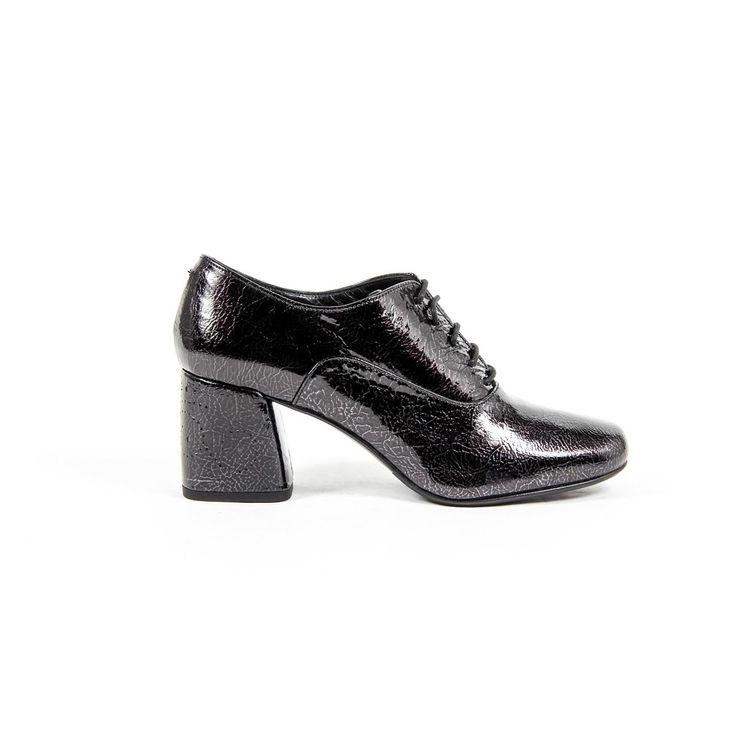 Versace 19.69 Abbigliamento Sportivo Srl Milano Italia Womens Heeled Oxford Shoe B2461 CRASH NERO