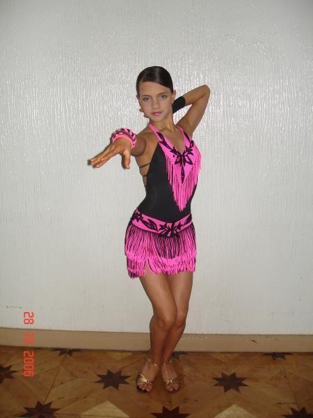 Платье латина бахромой