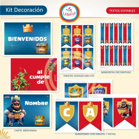 CLASH ROYALE. Kit Decoración - Comprar en Laralusa