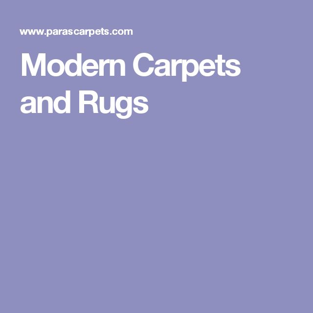 Modern Carpets and Rugs