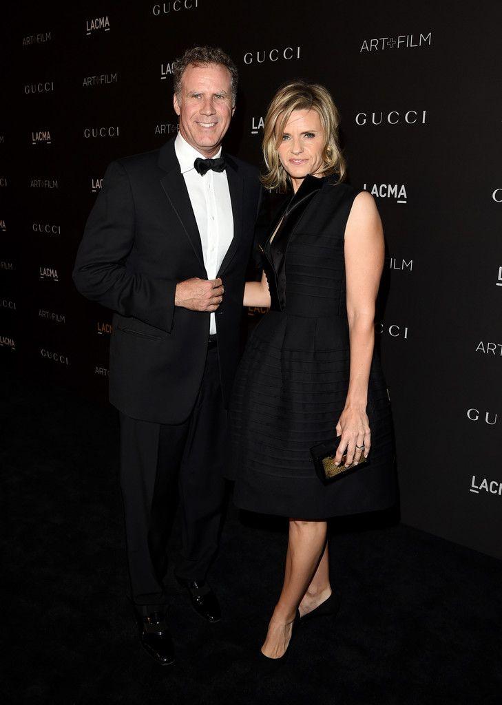 Actor Will Ferrell (L) and Viveca Paulin