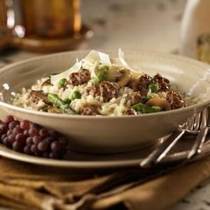 Sausage and Vegetable Risotto Recipe from our friends at Johnsonville