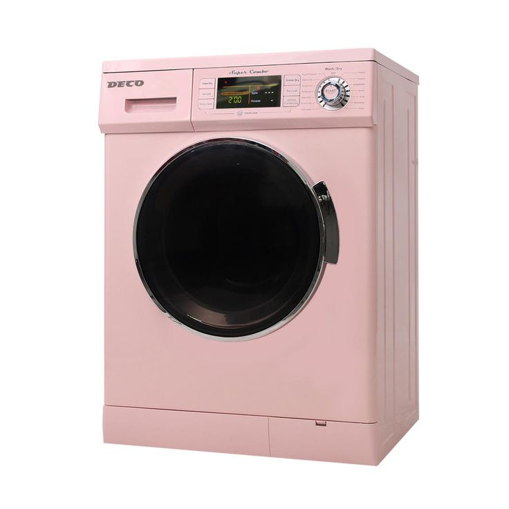 Deco 1.6 cu. ft. Compact Combo Washer and Electric Dryer with Optional Condensing/Venting and Sensor Dry in Pink