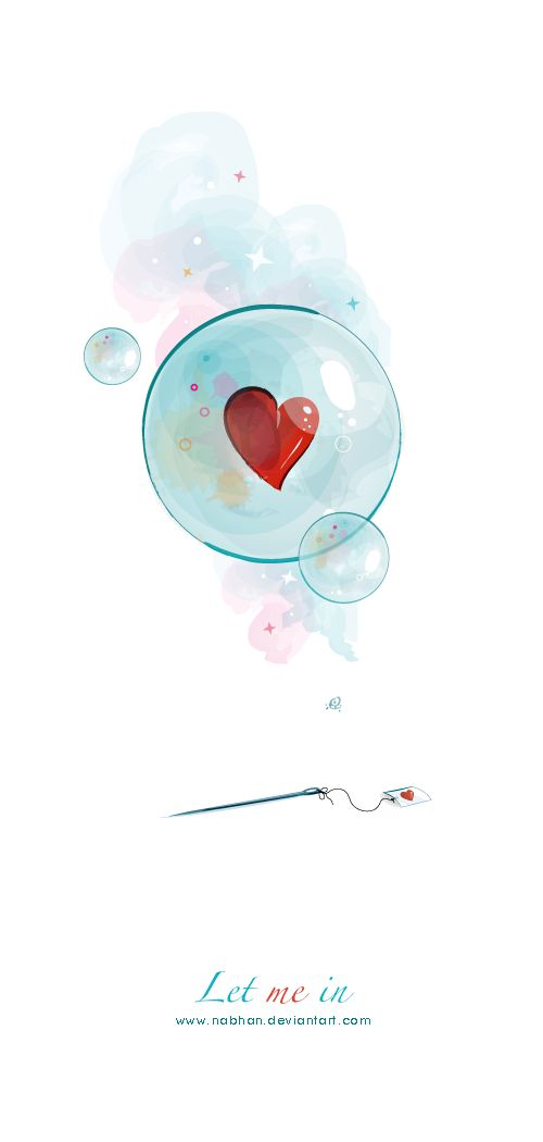 burbuja corazón