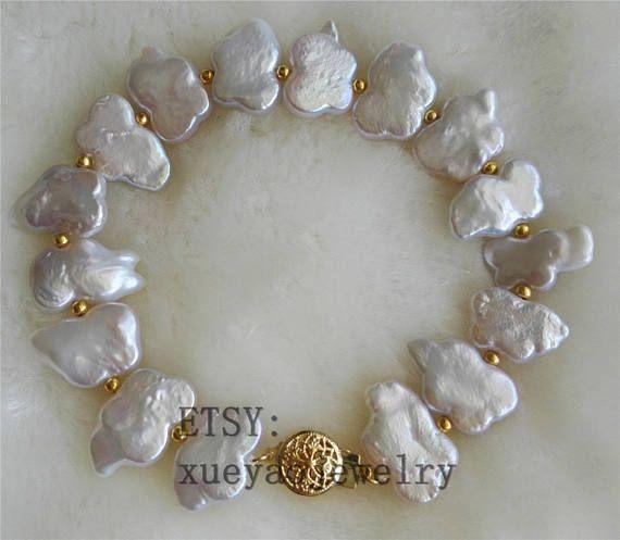 Gratis envío  Perla pulsera pulsera de perlas barrocas