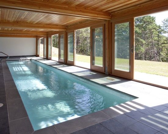 Marvelous Indoor Pools With Sliding Doors And Wooden Roof Part 89