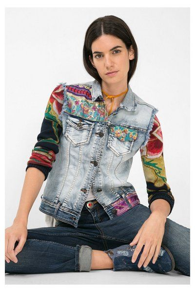 Desigual Denim jacket. Discover the fall-winter 2015 collection!