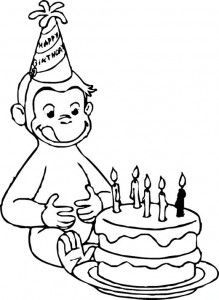 Curious George Birthday Coloring Pages Picture