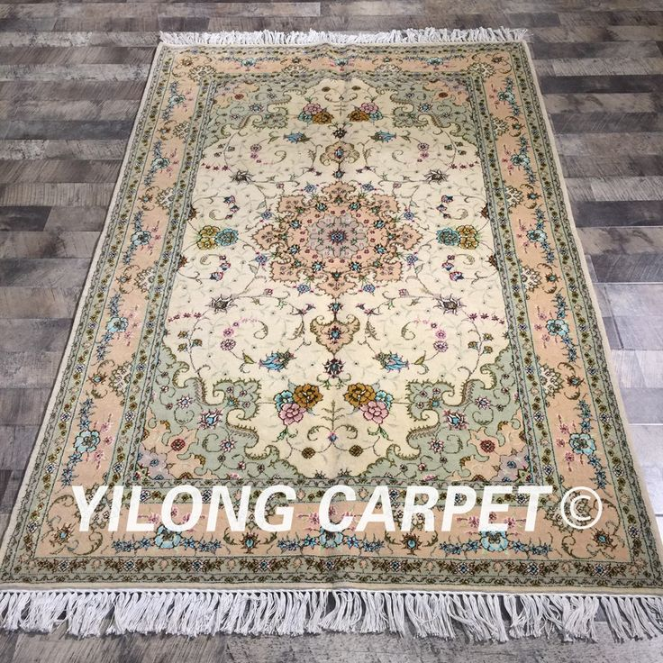 Yilong 4'x6′ exquisite flowers turkish handknotted…