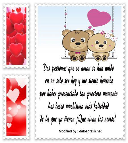 palabras por matrimonio,textos por matrimonio: http://www.datosgratis.net/lindisimos-mensajes-para-novios-por-su-matrimonio/