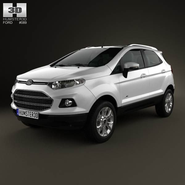ford ecosport titanium 2013 3d model models 3d and ford. Black Bedroom Furniture Sets. Home Design Ideas