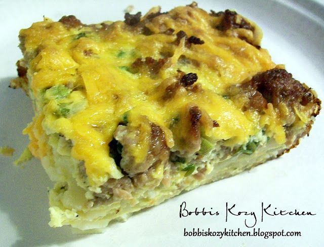 Make Ahead Sausage Breakfast Casserole   Bobbi's Kozy Kitchen