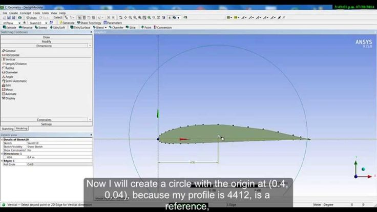 ANSYS CFX - Design Modeler NACA Airfoil - TUTORIAL PART 2/4