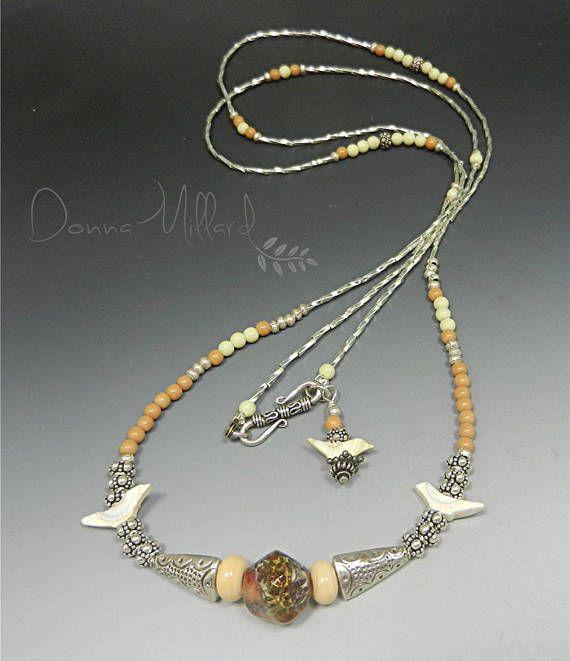 SRA Handmade Artisan Lampwork Necklace Donna Millard lampwork
