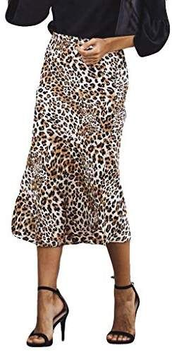 d08d02556 99native Women High Waist Leopard Print Fashion Girls Sexy Uniform Pleated  Skirt