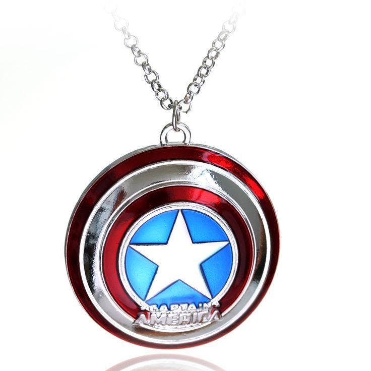 Captain America Shield Pendant //Price: $8.00 & FREE Shipping //     #avengers #justiceleague #superman #spiderman