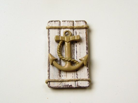Dollhouse beach picture  miniature anchor picture  by DewdropMinis