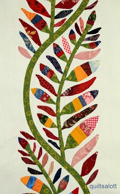 Great appliqued feather design