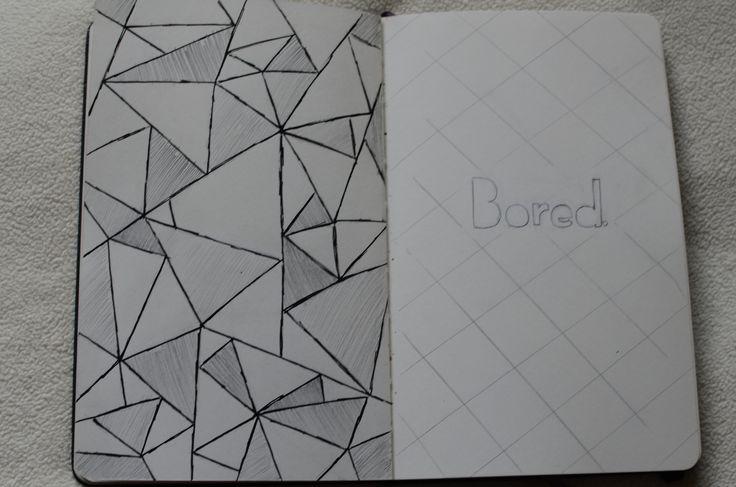triangles. bored