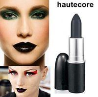 1 unids maquillaje marca Top Quality RETRO mate HAUTECORE negro lápiz labial 3 G púrpura lápiz labial cosméticos envío gratis KH01-13