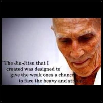 """The Jiu Jitsu I created waas designedto give the weak ones a chance to face the heavy and strong."" - Helio Gracie  #BJJ #Quote #Gracie"
