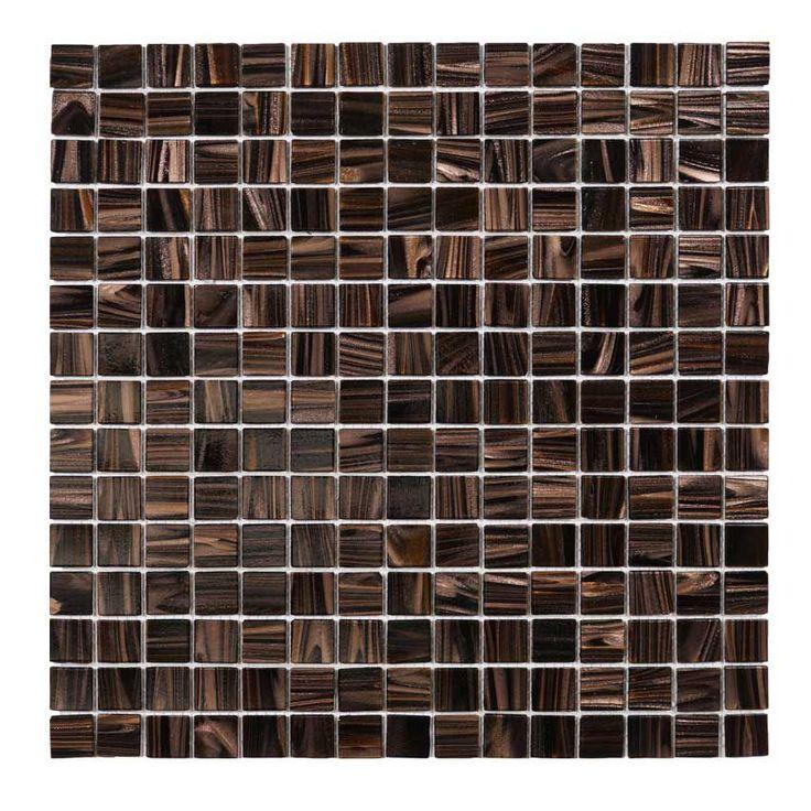 Glasmosaik Brun guld 32,7×32,7