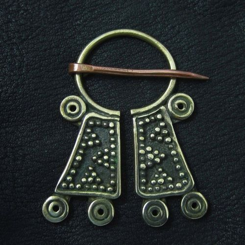 Bronze Mordvinian cloak pin. Reenactment. History. Baltic. Fibula. Brooch. SCA.
