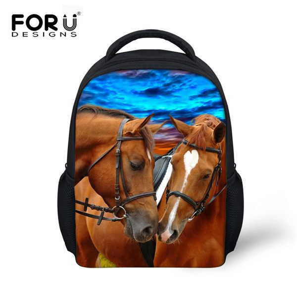 Mini 3D Sea Animals School Bags For Boys Kindergarten Baby Shark Horse Print Schoolbag Children Backpack Kids Mochila Infantil