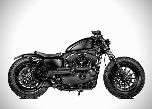 Blacked Out custom Harley